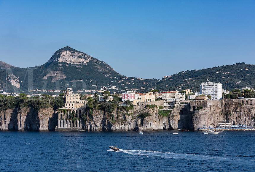 Sea cliffs and waterfront architecture, Sorrento, Italy