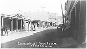 San Francisco Street, Santa Fe, NM looking east.<br /> Santa Fe, NM  ca 1890