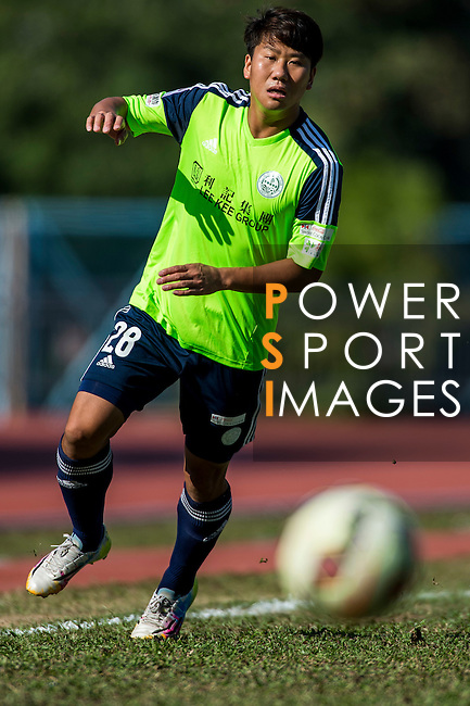 Haopeng Wu of Wofoo Tai Po in action during the HKFA Premier League between Wofoo Tai Po vs Sun Pegasus at the Tai Po Sports Ground on 22 November 2014 in Hong Kong, China. Photo by Aitor Alcalde / Power Sport Images
