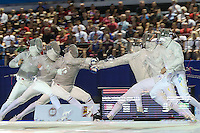 TORONTO, CANADÁ, 20.07.2015 - PAN-ESGRIMA -  Brasileiro Renzo Agresta e o canadense Joseph Polossifakis disputa seminal de Esgrima nos Jogos Panamericanos  na cidade de Toronto no Canadá, nesta segunda-feira, 20. (Foto: Vanessa Carvalho/Brazil Photo Press)