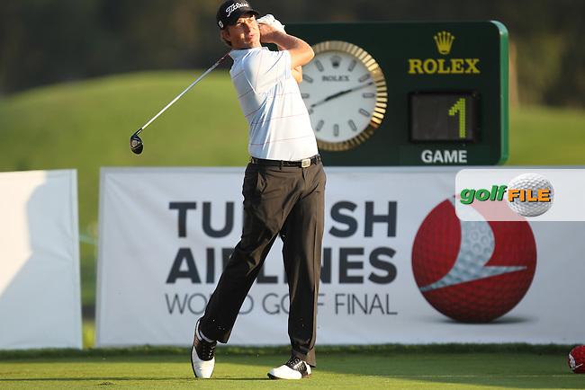 Webb Simpson (USA) during round 3 of the Turkish Airlines World Golf Final in Antalya Golf Club, Antalya, Turkey..Picture: Fran Caffrey/www.golffile.ie.