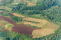Aerial of farmland, Tanzania, East Africa