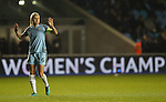 Steph Houghton of Manchester City Women during the Champions League last 16 tie, first leg between Manchester City Women and Brondby IF at the Academy Stadium. <br /> <br /> Photo credit should read: Lynne Cameron/Sportimage