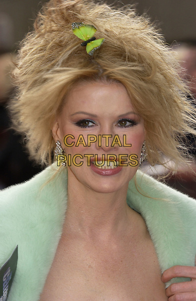 "CINDY JACKSON.ITV's ""The Celebrity Awards"".London 26 September 2004.headshot, portrait, hair accessory, clip, butterfly.www.capitalpictures.com.sales@capitalpictures.com.©Capital Pictures"