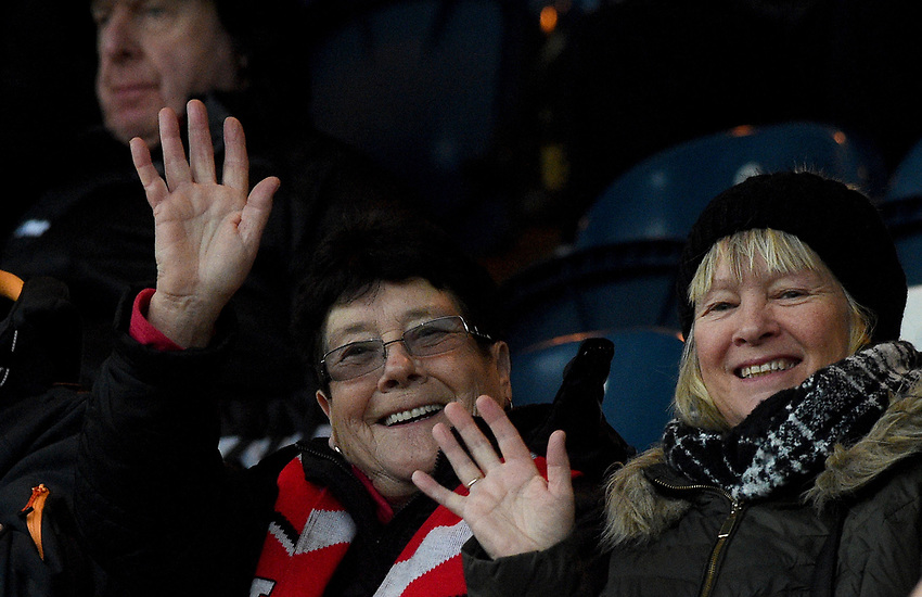 fans enjoy the pre-match atmosphere <br /> <br /> Photographer Hannah Fountain/CameraSport<br /> <br /> The EFL Sky Bet League One - Rochdale v Fleetwood Town - Saturday 19 January 2019 - Spotland Stadium - Rochdale<br /> <br /> World Copyright © 2019 CameraSport. All rights reserved. 43 Linden Ave. Countesthorpe. Leicester. England. LE8 5PG - Tel: +44 (0) 116 277 4147 - admin@camerasport.com - www.camerasport.com
