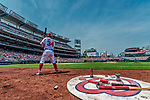 29 April 2017: Washington Nationals outfielder Bryce Harper on deck during a game against the New York Mets at Nationals Park in Washington, DC. The Mets defeated the Nationals 5-3 to take the second game of their 3-game weekend series. Mandatory Credit: Ed Wolfstein Photo *** RAW (NEF) Image File Available ***