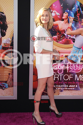 Yvonne Strahovski at the premiere of Paramount Insurge's 'Katy Perry: Part Of Me' at Grauman's Chinese Theatre on June 26, 2012 in Hollywood, California. &copy;&nbsp;mpi29/MediaPunch Inc. /**NORTEPHOTO:COM**<br /> **SOLO*VENTA*EN*MEXICO** **CREDITO*OBLIGATORIO**