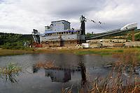 Gold Mining Dredge #4 at Bonanza Creek, near Dawson City, YT, Yukon Territory, Canada