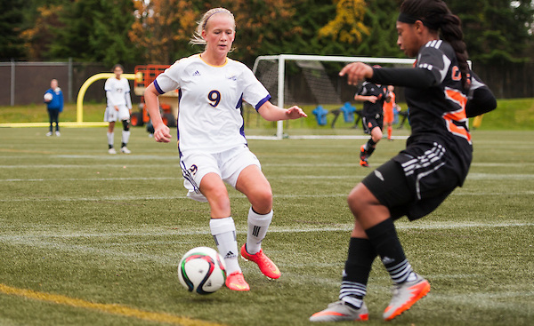 VANCOUVER,BC:NOVEMBER 13, 2015 -- CBU v Wilfred Laurier during the 2015 CIS Women's Soccer National Championships at UBC in Vancouver, BC, November, 13, 2015. (Rich Lam/UBC Athletics Photo) <br /> <br /> ***MADATORY CREDIT***
