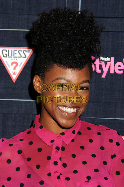 Danielle Watts.People StyleWatch hosts Hollywood Demin Party in honor of 2nd Annual Denim Issue held at Palihouse, West Hollywood, California USA..20th September 2012.headshot portrait pink black polka dot blouse  .CAP/ADM/BP.©Byron Purvis/AdMedia/Capital Pictures.