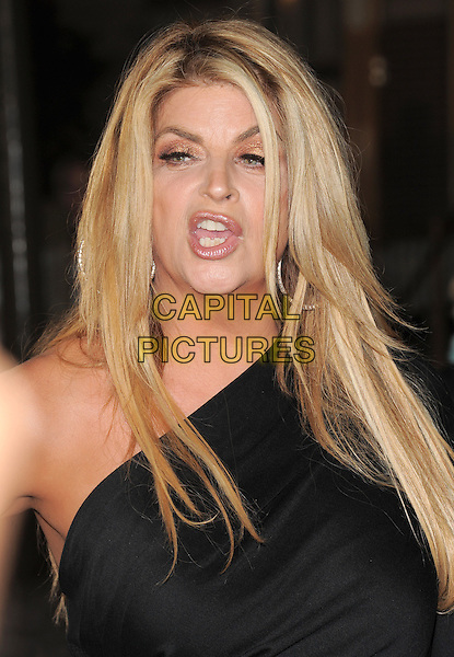 "KIRSTIE ALLEY.Premiere of ""Pirates of the Caribbean : On Stranger Tides"" held at Disneyland in Anaheim, California, USA..May 7th 2011.4 four headshot portrait black one shoulder mouth open funny .CAP/RKE/DVS.©DVS/RockinExposures/Capital Pictures."