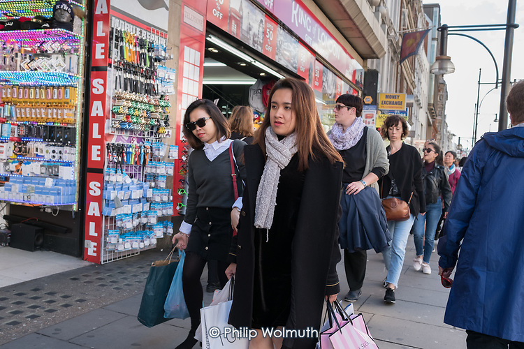 Shoppers in Oxford Street, London.