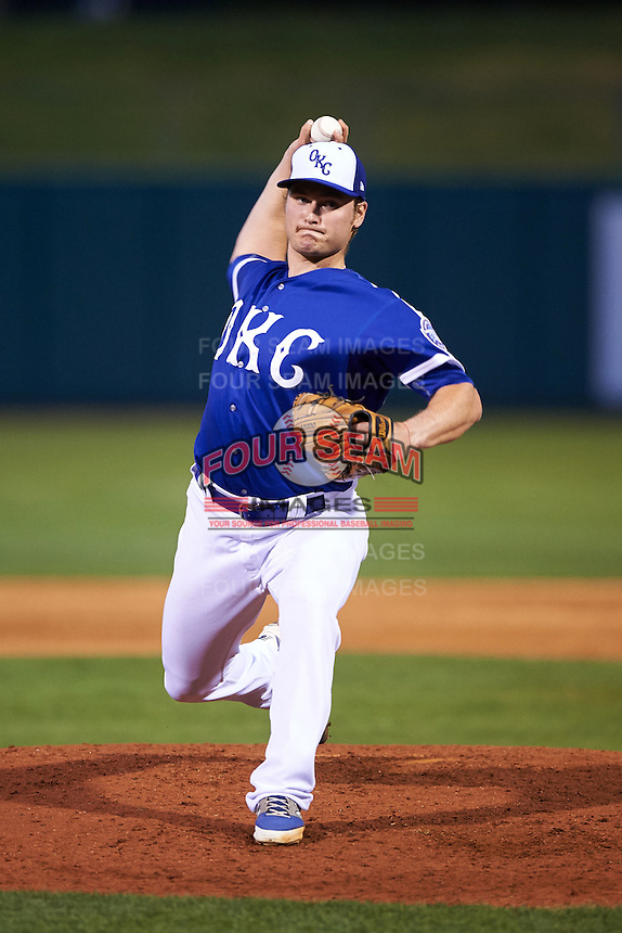 Oklahoma City Dodgers pitcher Matt West (35) delivers a pitch during a game against the Fresno Grizzles on June 1, 2015 at Chickasaw Bricktown Ballpark in Oklahoma City, Oklahoma.  Fresno defeated Oklahoma City 14-1.  (Mike Janes/Four Seam Images)
