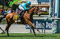 ARCADIA, CA. MAY 27: #6 Lady Eli ridden by Irad Ortiz, Jr, wins the Gamely Stakes (Grade l) on May 27, 2017, at Santa Anita Park in Arcadia, CA.  (Photo by Casey Phillips/EclipseSportswire/Getty Images