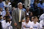 15 November 2015: UNC head coach Roy Williams. The University of North Carolina Tar Heels hosted the Fairfield University Stags at the Dean E. Smith Center in Chapel Hill, North Carolina in a 2015-16 NCAA Division I Men's Basketball game. UNC won the game 92-65.