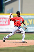 New Britain Rock Cats second baseman Eddie Rosario #13 during a game against the Erie Seawolves on June 20, 2013 at Jerry Uht Park in Erie, Pennsylvania.  New Britain defeated Erie 2-0.  (Mike Janes/Four Seam Images)