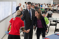 Spanish Royals visit  the Paraplegic Hospital