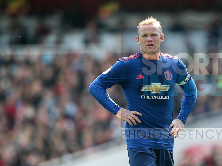 Manchester United's Wayne Rooney looks on during the Premier League match at the Emirates Stadium, London. Picture date: May 7th, 2017. Pic credit should read: David Klein/Sportimage