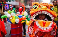 Chinese New Year celebration in New York's Chinatown.in New York, United States. 18/01/2012. Photo by Eduardo Munoz Alvarez / VIEWpress.