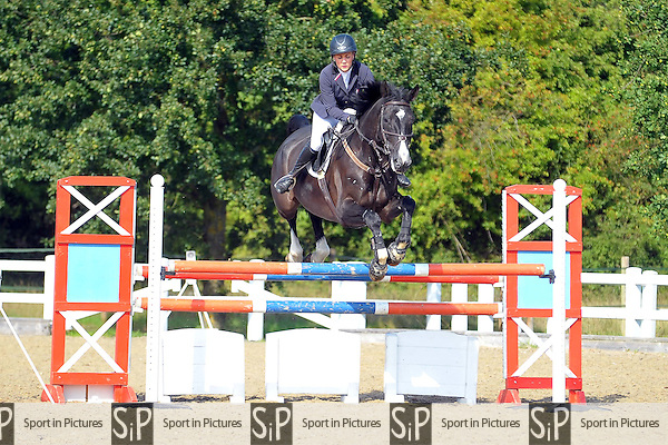 Class 5. 1.15m. British Showjumping (BS) Seniors. Brook Farm Training Centre. Essex. 11/09/2015. MANDATORY Credit Ellie Ingram/Sportinpictures - NO UNAUTHORISED USE - 07837 394578