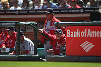 SAN FRANCISCO - APRIL 10:  Manager Tony La Russa #10 and hitting coach Mark McGwire #25 of the St. Louis Cardinals watch the game against the San Francisco Giants at AT&T Park on April 10, 2011 in San Francisco, California. Photo by Brad Mangin