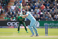 Jos Buttler (England) clips square of the wicket during England vs Bangladesh, ICC World Cup Cricket at Sophia Gardens Cardiff on 8th June 2019