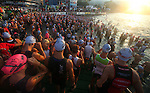 "KAILUA-KONA, HAWAII - OCTOBER 9:  Competitors during the Ironman World Championships in Kailua-Kona, Hawaii on October 9, 2009. Considered one of the most grueling races in the world, competitors must brave 95 degrees temperature and 90 percent humidity to complete a 3.86 km swim, 180.2 km bike, and a 42.2 km marathon with in an 17 hour time cutoff to be called an ""Ironman"". (Photo by Donald Miralle)"