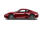 Car Driver side profile view of a 2015 Porsche Cayman S 2 Door Coupe Side View