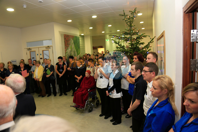 Launch of Tree of Remembrance and Bereavement Room at Our Lady of Lourdes Hospital with George Hook performing the official duties. <br /> Picture www.newsfile.ie
