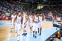 Venezuela's basketball team during the  match of the preparation for the Rio Olympic Game at Madrid Arena. July 23, 2016. (ALTERPHOTOS/BorjaB.Hojas) /NORTEPHOTO.COM