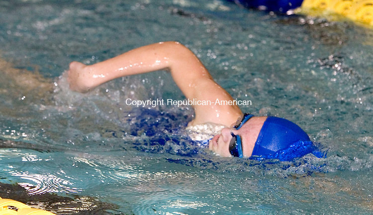 WATERBURY, CT- 07 JAN 2008- 010708JT10-<br /> Crosby's Karyn Grochowski swims the 200 yd. freestyle during Monday's meet against Sacred Heart at Kennedy. <br /> Josalee Thrift / Republican-American