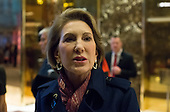 Carly Fiorina speaks with the press in the lobby of Trump Tower following her meeting with President-elect Donald Trump in New York, NY, USA on December 12, 2016. <br /> Credit: Albin Lohr-Jones / Pool via CNP