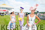 Best Dressed Lady was Tasha O'Connor, Templeglantine at  the Listowel Races Ladies Day on Sunday here with finalists Grace Flynn, Pallaskenry, Co Limerick and Linda O'Brien, Tralee