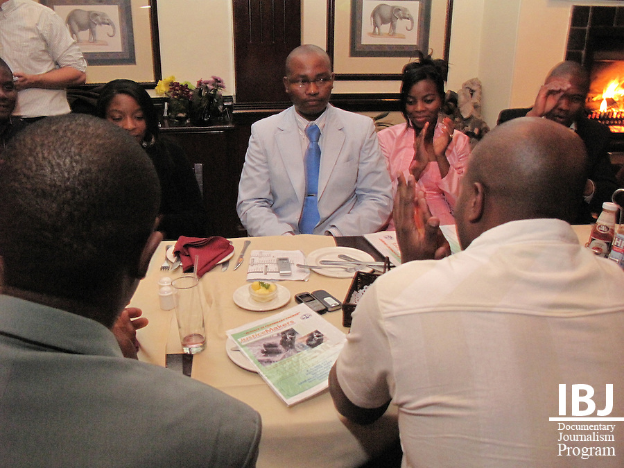 The Swaziland Justice Makers team hosted a dinner to raise awareness of the project at Quatermain's near Lobomba, Swaziland.