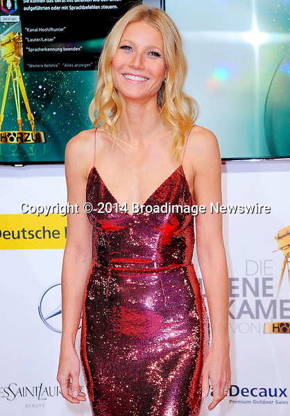 Pictured: Gwyneth Paltrow<br /> Mandatory Credit &copy; Adhemar Sburlati/Broadimage<br /> 2014 Goldene Kamera Awards - Arrivals<br /> <br /> 2/6/14, Munich, , Germany<br /> <br /> Broadimage Newswire<br /> Los Angeles 1+  (310) 301-1027<br /> New York      1+  (646) 827-9134<br /> sales@broadimage.com<br /> http://www.broadimage.com