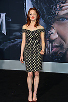 "LOS ANGELES, CA. October 01, 2018: Elizabeth J. Carlisle at the world premiere for ""Venom"" at the Regency Village Theatre.<br /> Picture: Paul Smith/Featureflash"