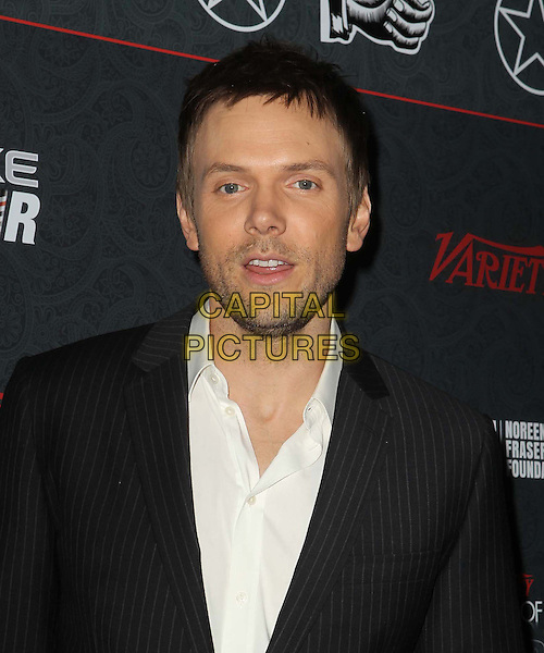 Joel McHale.3rd Annual Variety Power of Comedy Held At Avalon Hollywood, Hollywood, California, USA, .17th November 2012..portrait headshot white shirt grey gray pinstripe beard facial hair stubble .CAP/ADM/KB.©Kevan Brooks/AdMedia/Capital Pictures.