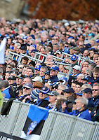 Bath supporters in the crowd look on. LV= Cup match, between Bath Rugby and the Newport Gwent Dragons on November 10, 2012 at the Recreation Ground in Bath, England. Photo by: Patrick Khachfe / Onside Images