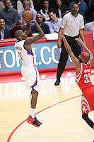 02/22/15 Los Angeles, CA: Los Angeles Clippers guard Jamal Crawford #11in action against the Houston Rockets during an NBA game played at Staples Center.