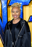 LONDON, ENGLAND - FEBRUARY 8: Emeli Sande arrives at the 'Black Panther' European premiere at the Eventim Apollo, on February 8th, 2018 in London, England. <br /> CAP/JC<br /> &copy;JC/Capital Pictures