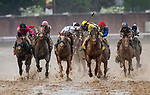 LOUISVILLE, KENTUCKY - MAY 04: Country House with Flavien Prat (yellow cap) wins the Kentucky Derby via disqualification as Maximum Security caused interference on the turn at Churchill Downs in Louisville, Kentucky on May 04, 2019. Evers/Eclipse Sportswire/CSM