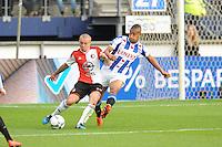 VOETBAL: HEERENVEEN: Abe Lenstra Stadion 21-05-2015, SC Heerenveen - Feyenoord, uitslag 1-0, Jordy Clasie (#6), Luciano Slagveer (#17), ©foto Martin de Jong