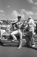 Geoff Bodine wins the Busch series race  at Darlington Raceway in Darlington, SC on March 19, 1988. (Photo by Brian Cleary/www.bcpix.com)