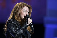 "Isabelle Boulay performs at the ""Paris-Quebec"" show of the 44th Festival d'ete de Quebec on the Plains of Abraham in Quebec city Thursday July 7, 2011."