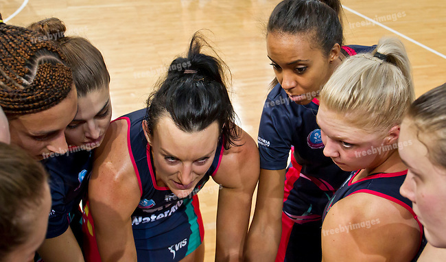 26/04/2015<br /> ANZ Championship 2015<br /> Round 9 Vixens v Tactix at Hisense Arena<br /> <br /> <br /> <br /> Photo: Grant Treeby