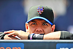 2 March 2010: New York Mets' infielder Luis Hernandez looks out from the dugout prior to a game against the Atlanta Braves during the Opening Day of Grapefruit League play at Tradition Field in Port St. Lucie, Florida. The Mets defeated the Braves 4-2 in Spring Training action. Mandatory Credit: Ed Wolfstein Photo