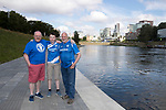 FK Trakai v St Johnstone&hellip;05.07.17&hellip; Europa League 1st Qualifying Round 2nd Leg<br />Saints fans in Vilnius ahead of kick off, from left, Paul Gallagher, Louis Gallagher and Ian MacPherson from Perth<br />Picture by Graeme Hart.<br />Copyright Perthshire Picture Agency<br />Tel: 01738 623350  Mobile: 07990 594431