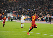 31st October 2017, Stadio Olimpico, Rome, Italy; UEFA Champions League, Roma versus Chelsea; Stephan El Shaarawy of AS Roma celebrates his goal