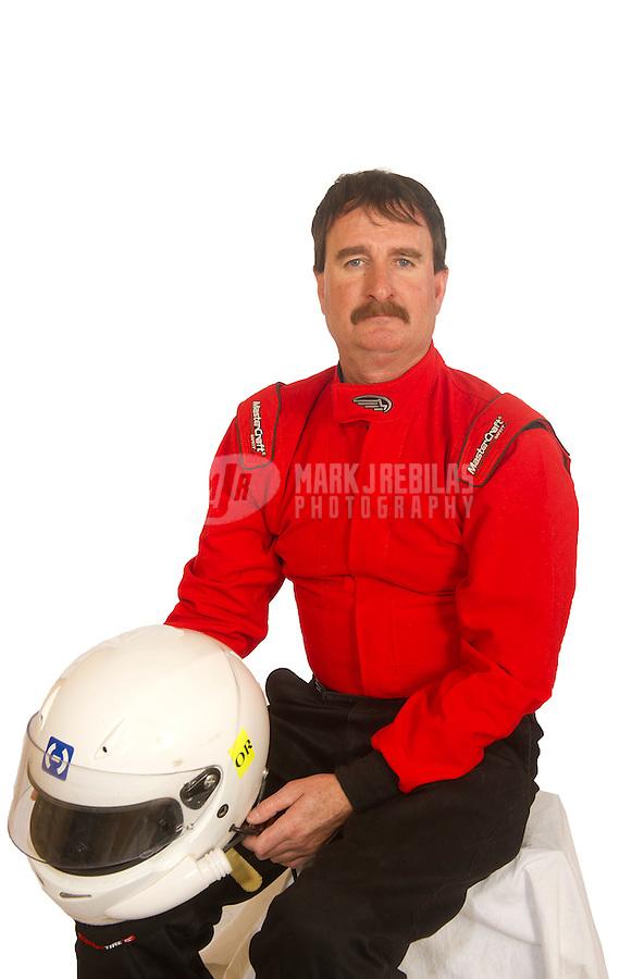 Mar. 18, 2011; Chandler, AZ, USA;  LOORRS driver Mike McCarthy poses for a portrait at Firebird International Raceway. Mandatory Credit: Mark J. Rebilas