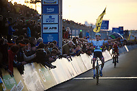 victory for Mathieu Van der Poel (NLD/BKCP-Corendon)<br /> <br /> UCI Cyclocross World Cup Heusden-Zolder 2015